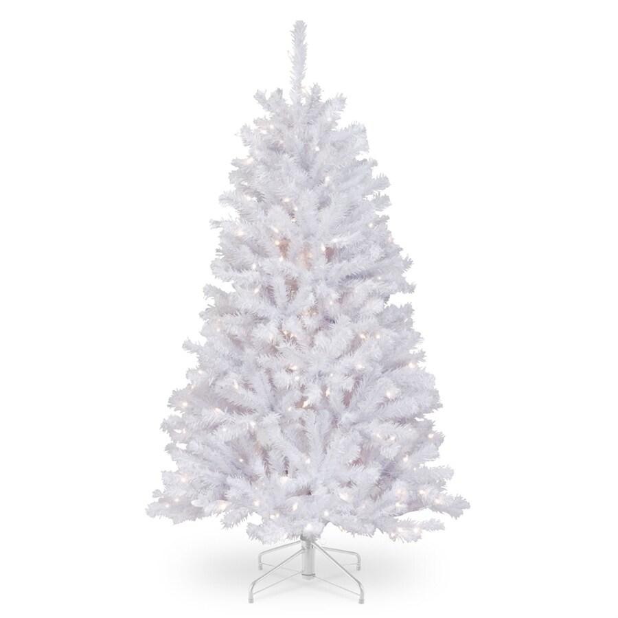 Shop National Tree Company 4.5-ft Pre-lit Artificial Christmas Tree ...