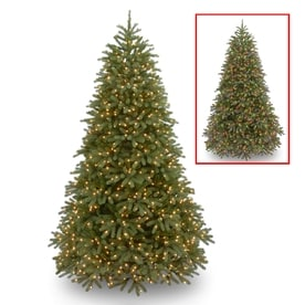national tree company 9 ft pre lit frasier fir artificial christmas tree with 1500 - Pre Lit Decorated Christmas Trees