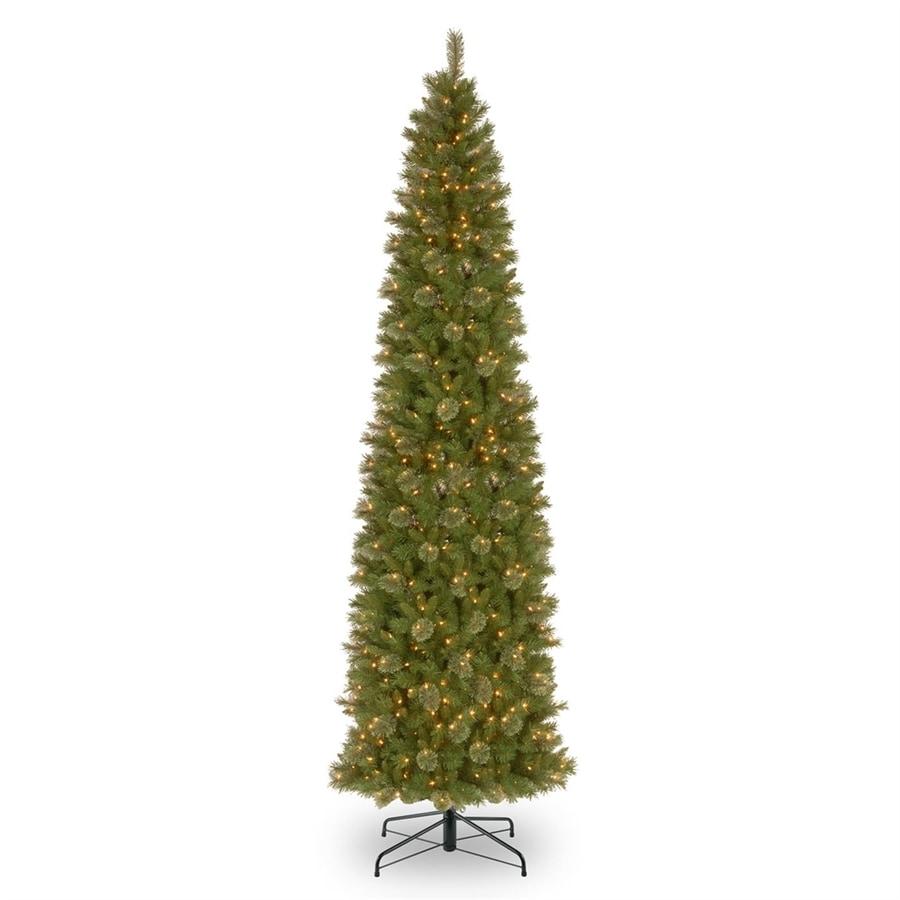 12 Ft Christmas Trees: National Tree Company 12-ft Pre-lit Slim Artificial