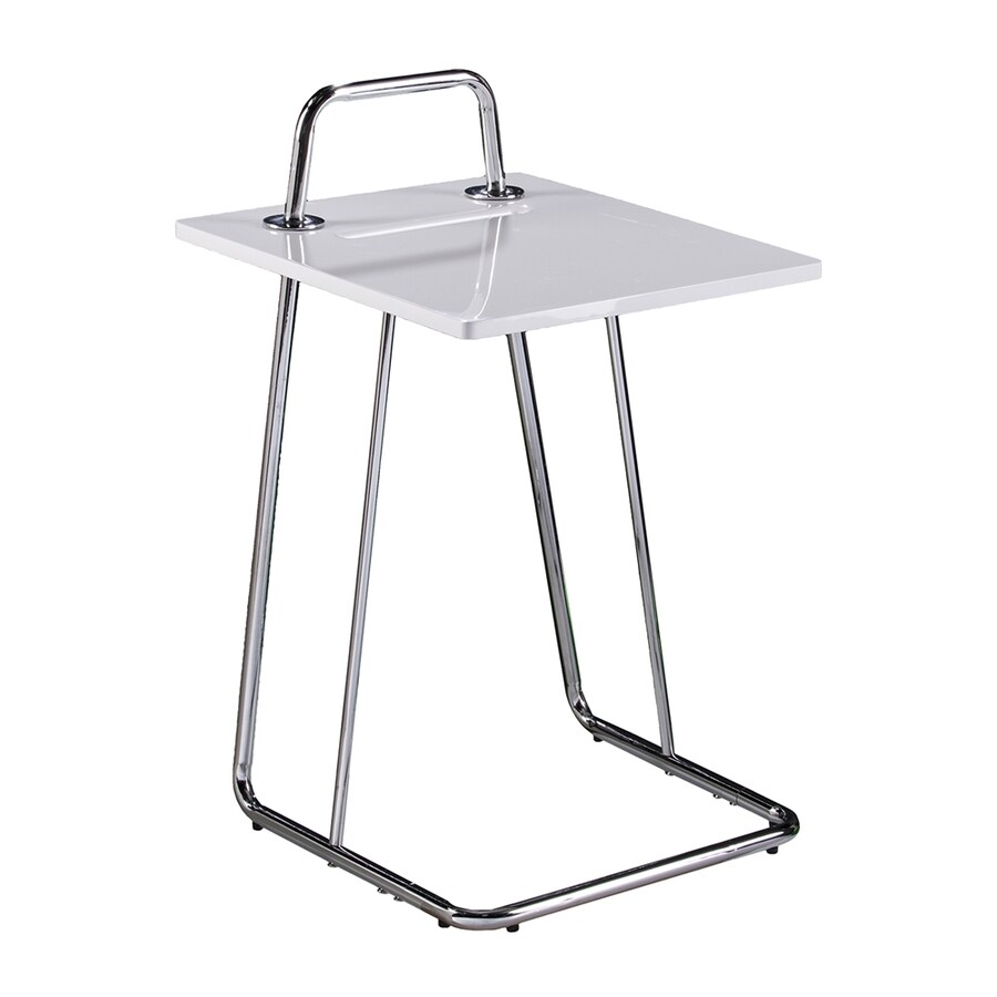 Boston Loft Furnishings Hench High-Gloss White End Table