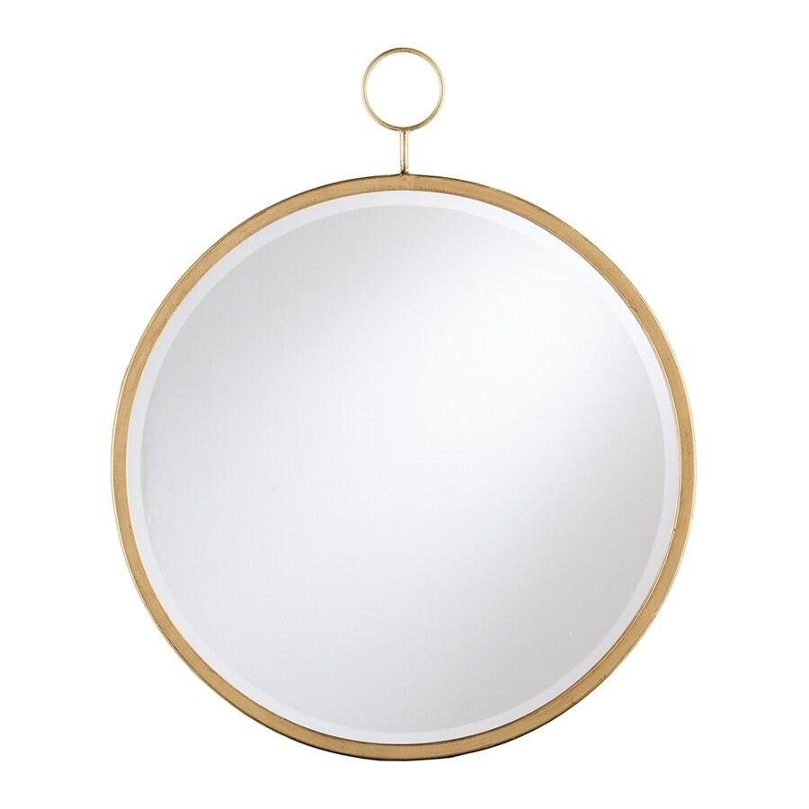 Boston Loft Furnishings Luster Golden Bronze Beveled Round Wall Mirror