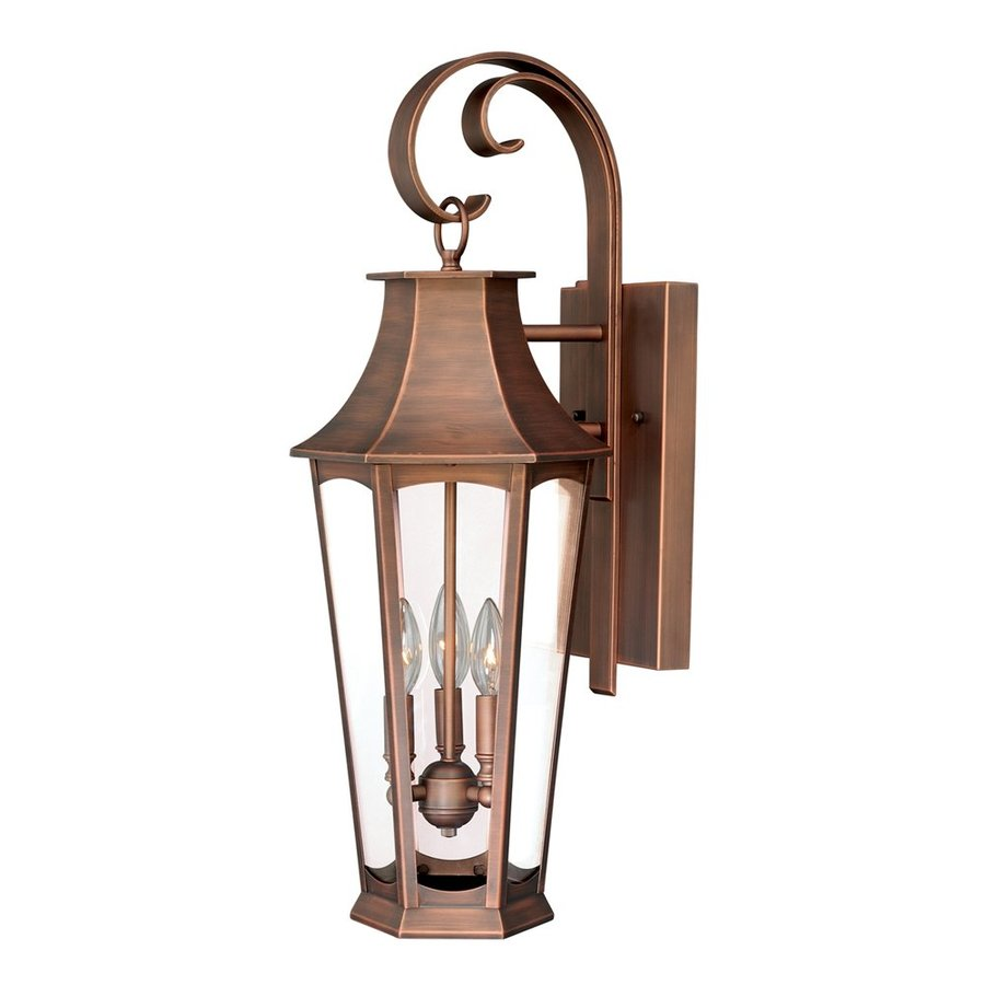 Cascadia Lighting Preston 26 75 In H Brushed Copper Outdoor Wall Light