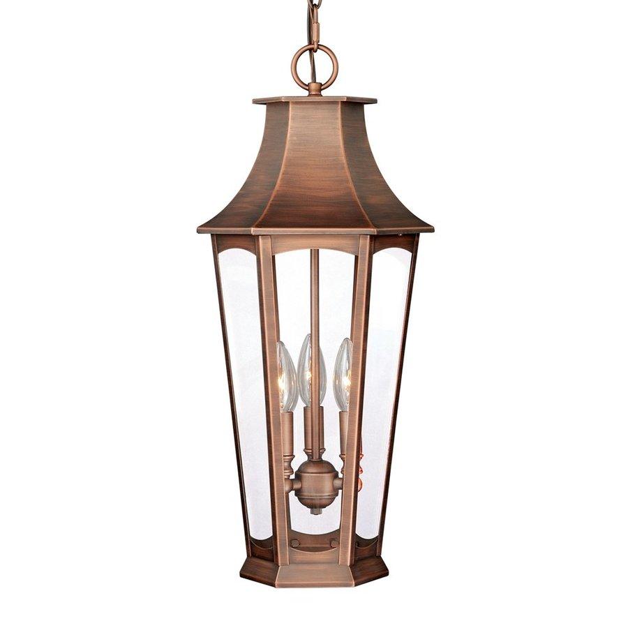 Cascadia Lighting Preston 22.25-in Brushed Copper Outdoor Pendant Light