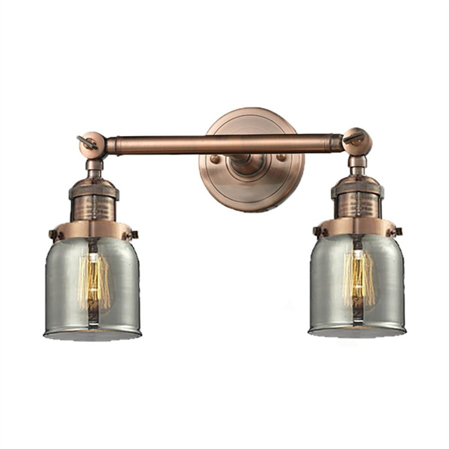 Innovations Lighting 16-in W 2-Light Antique Copper Vintage Swing Arm Wall Sconce