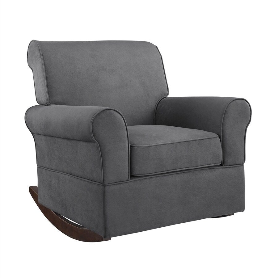 Dorel Living Baby Relax Casual Gray Microfiber Rocking Chair