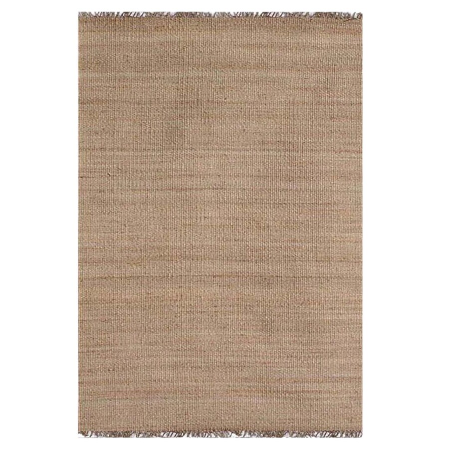 Acura Rugs Jute Natural Indoor Area Rug (Common: 5 x 7; Actual: 5-ft W x 7-ft L)