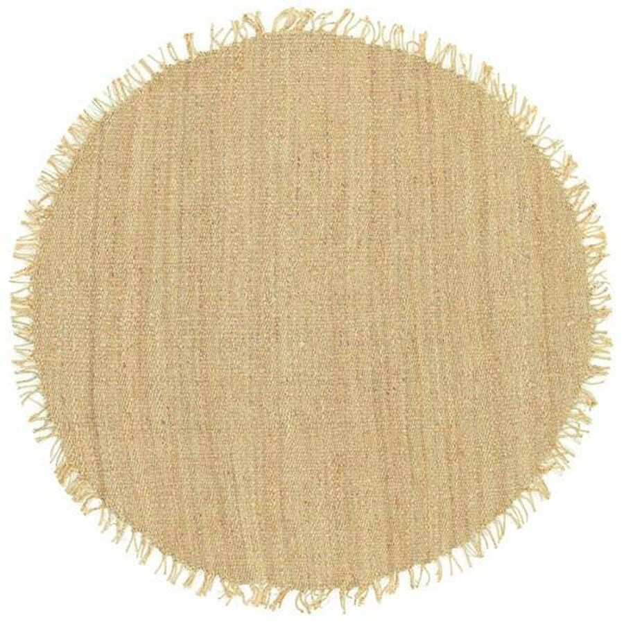 Surya Beige Round Indoor/Outdoor Handcrafted Area Rug (Common: 6 x 6; Actual: W x L x 6-ft dia)