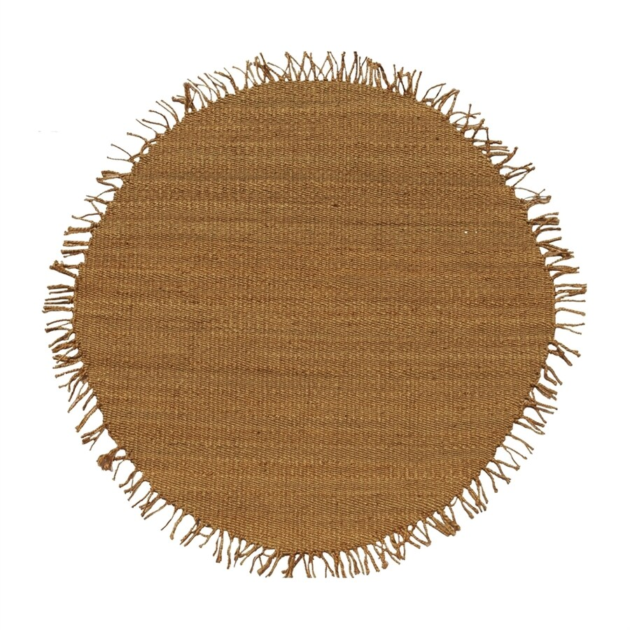 Acura Rugs Jute Natural Round Indoor Handcrafted Area Rug Common 6 X