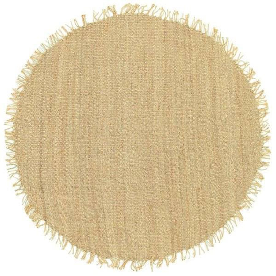 Surya Beige Round Indoor Handcrafted Area Rug Common 8 X Actual