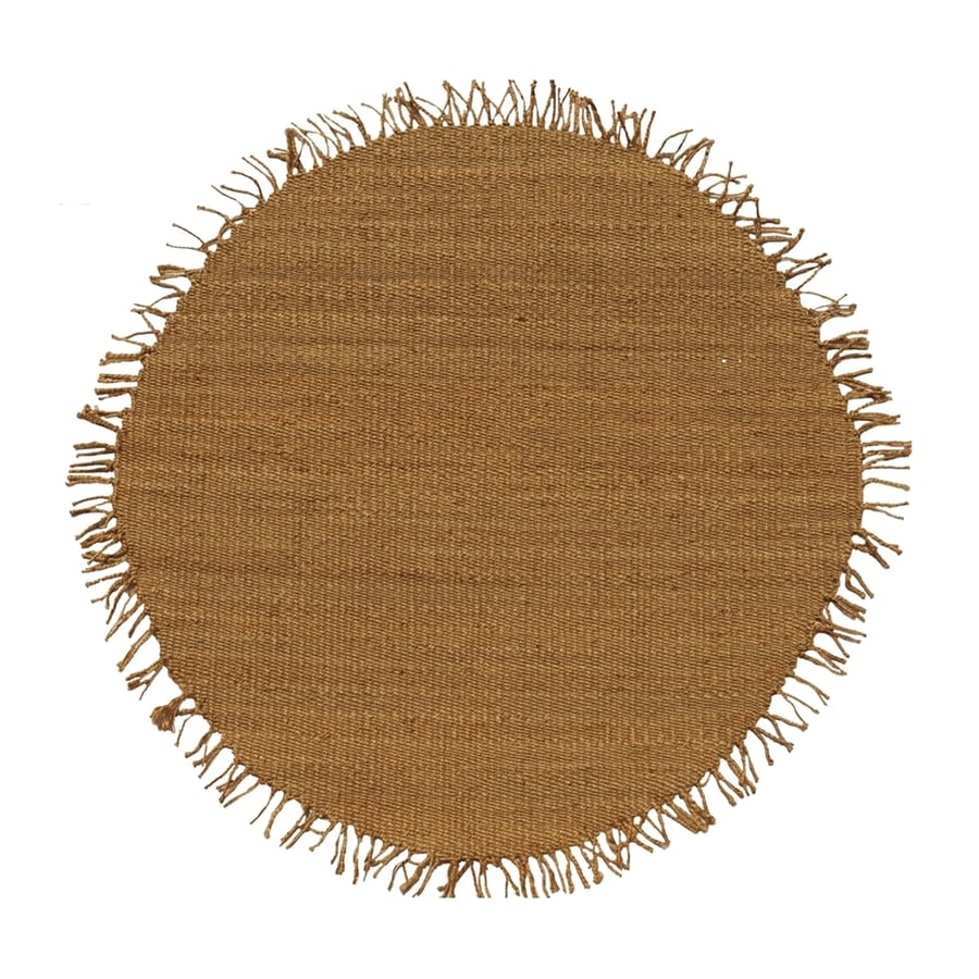Acura Rugs Jute Natural Round Indoor Handcrafted Area Rug Common 8 X