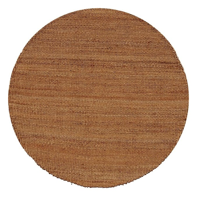 Acura Rugs Jute Natural Round Indoor Handcrafted Area Rug