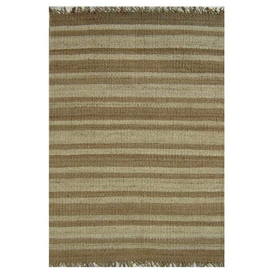 Acura Rugs Jute Bleach/Natural Indoor Area Rug (Common: 5 x 8; Actual: 5-ft W x 8-ft L)