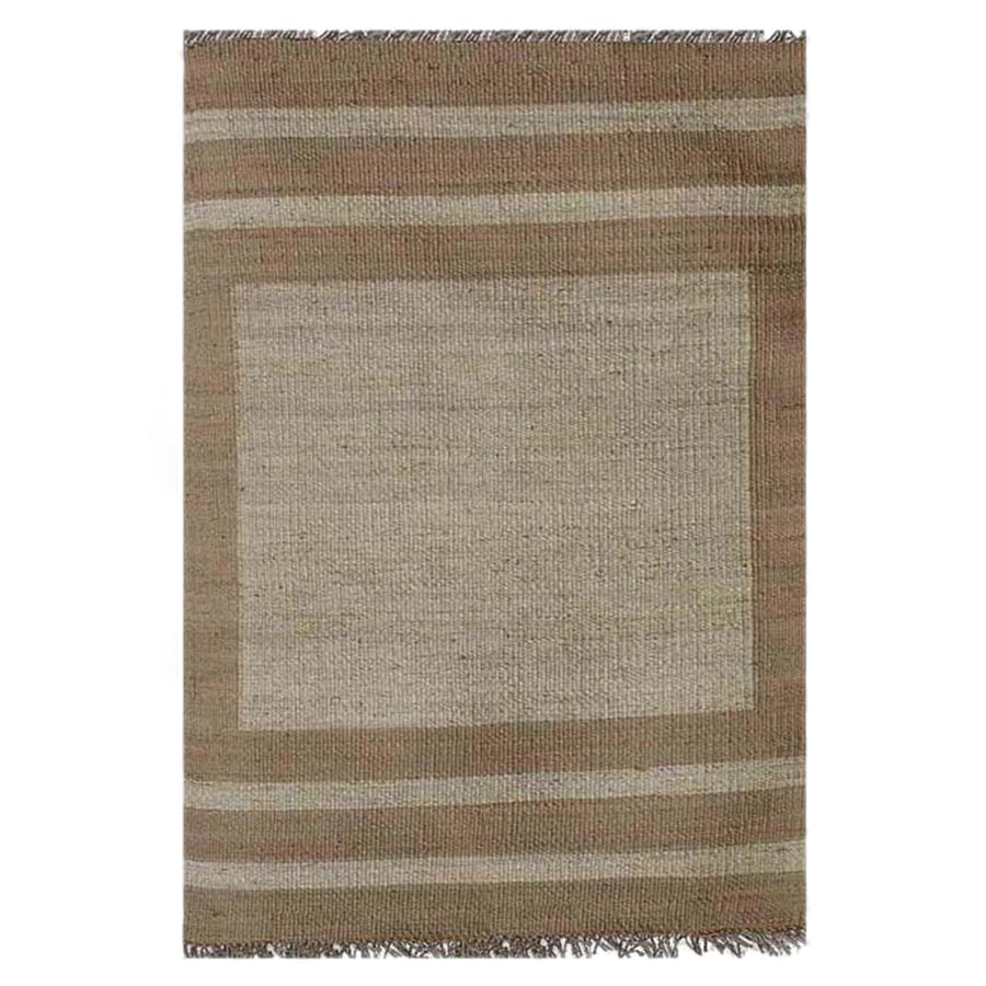 Acura Rugs Jute Bleach/Natural Indoor Area Rug (Common: 8 x 10; Actual: 8-ft W x 10.5-ft L)