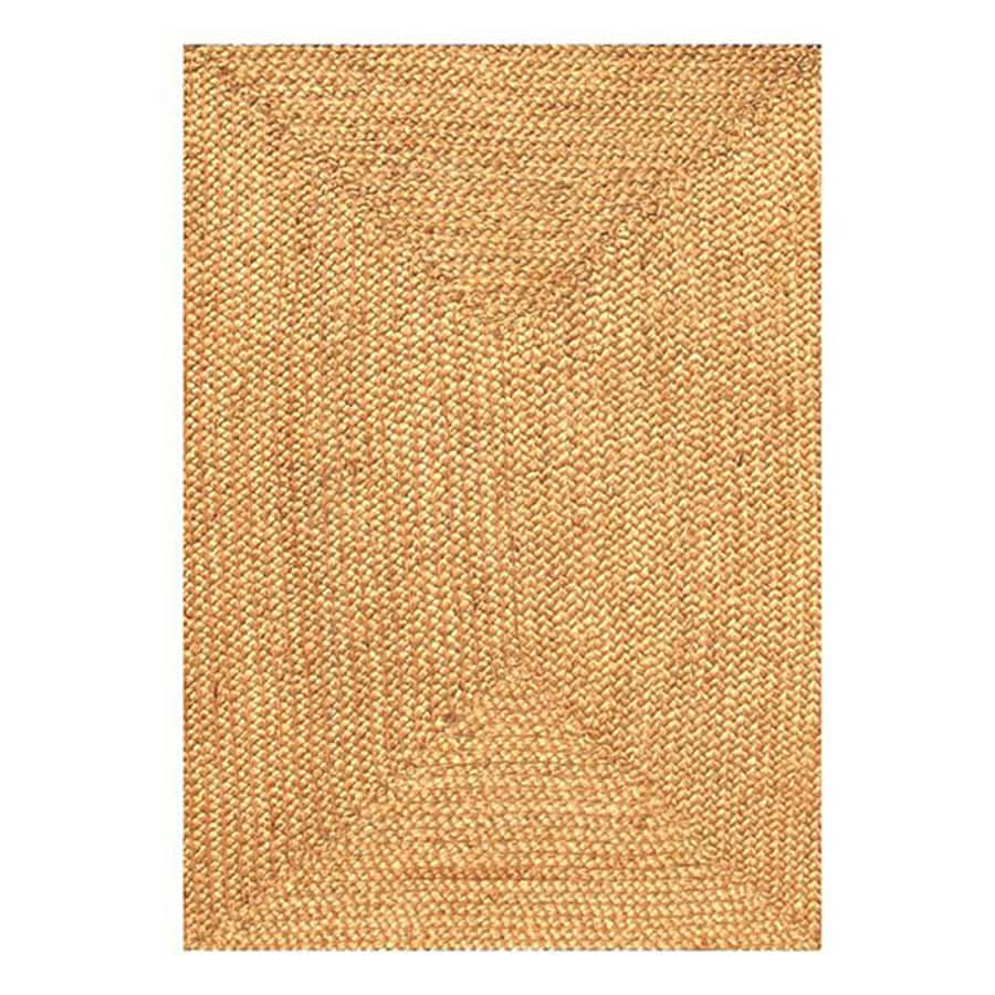 Acura Rugs Jute Natural Indoor Handcrafted Area Rug Common 6 X 8 Actual Ft W L