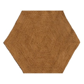 Acura Rugs Jute Natural Hexagonal Indoor Area Rug Common 8 X Actual
