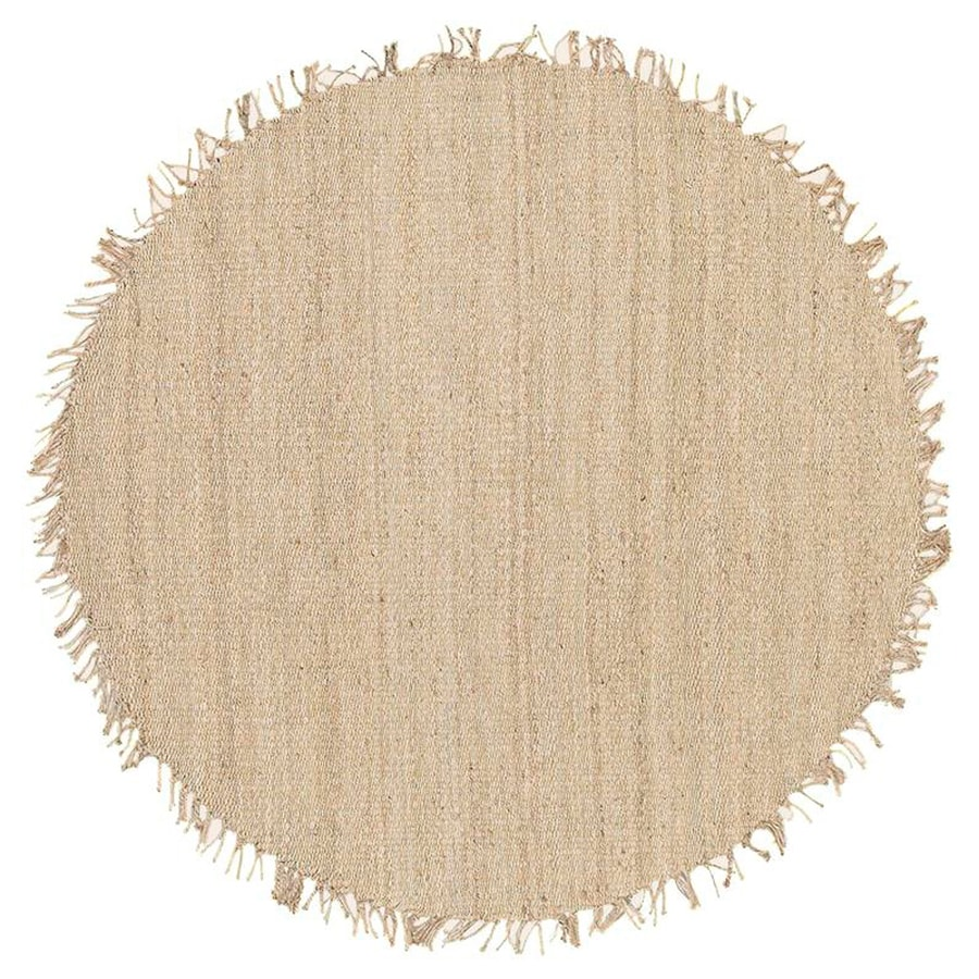 Surya Bleached Round Indoor Handcrafted Area Rug (Common: 8 x 8; Actual: W x L x 8-ft dia)