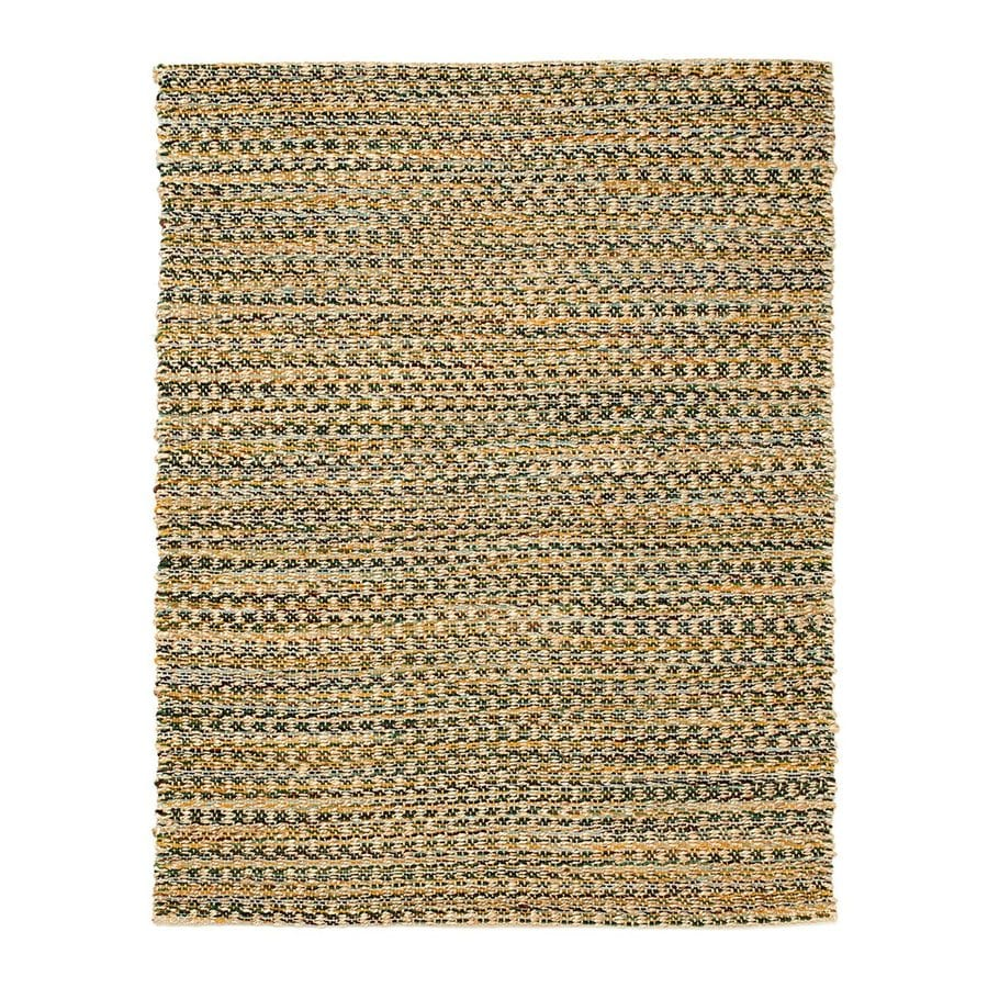 Anji Mountain Ilana Tan Indoor Handcrafted Area Rug (Common: 8 x 10; Actual: 8-ft W x 10-ft L)