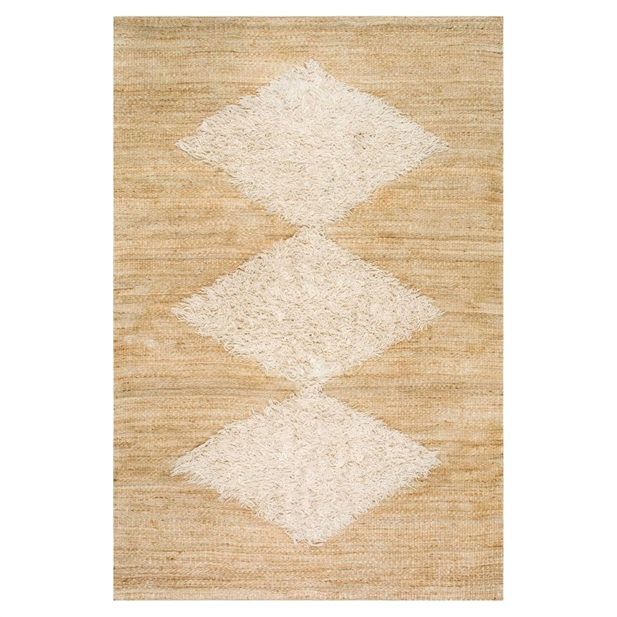 nuLOOM Melida Natural/Bleached Indoor Handcrafted Area Rug (Common: 7 x 10; Actual: 7.5-ft W x 9.5-ft L)