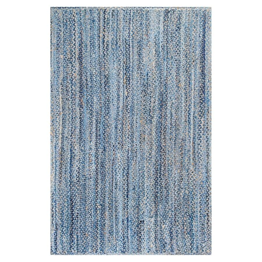 nuLOOM Otelia Denim Indoor Handcrafted Area Rug (Common: 5 x 8; Actual: 5-ft W x 8-ft L)