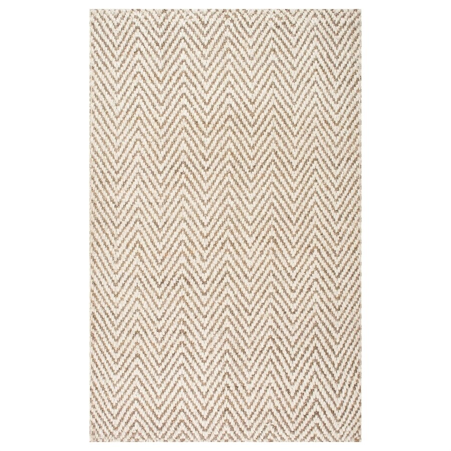 nuLOOM Vania Ivory Indoor Area Rug (Common: 5 x 8; Actual: 5-ft W x 8-ft L)