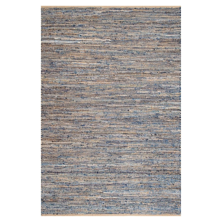 nuLOOM Vernell Natural/Blue Indoor Area Rug (Common: 4 x 6; Actual: 4-ft W x 6-ft L)