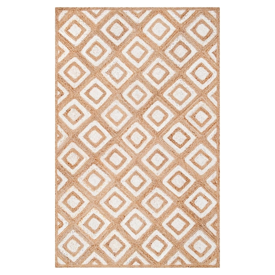nuLOOM Rosalva Natural/Bleached Indoor Runner (Common: 3 x 8; Actual: 2.5-ft W x 8-ft L)