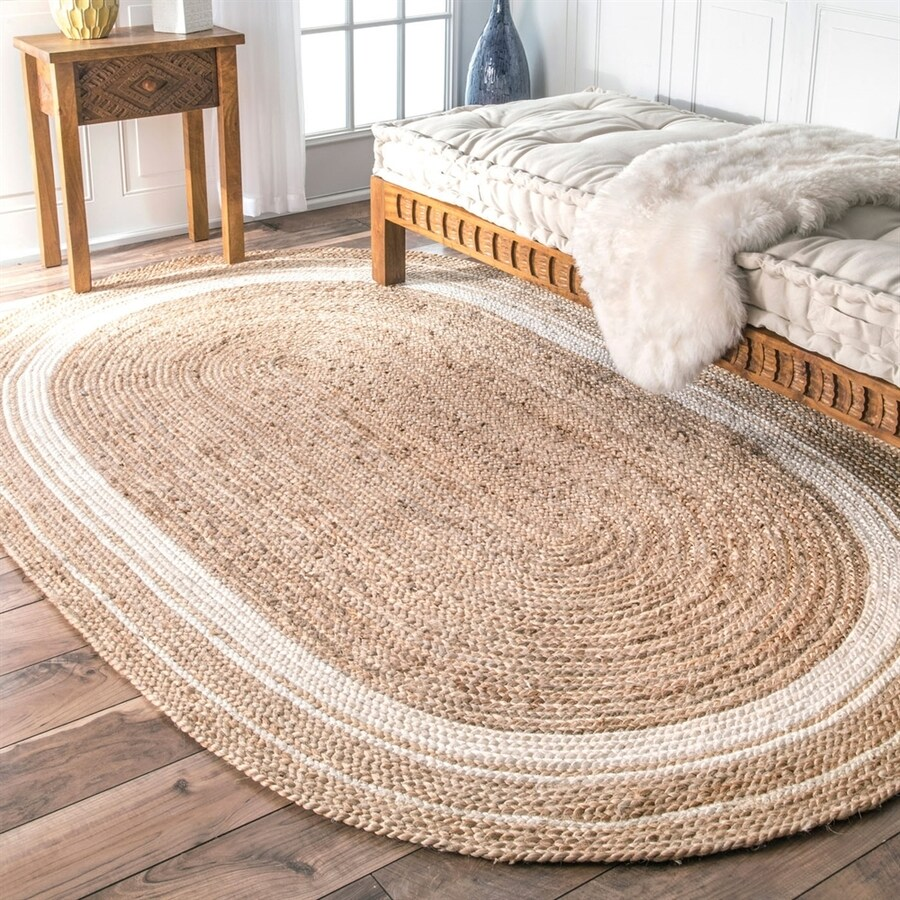 nuLOOM Rikki Natural/Bleached Oval Indoor Area Rug (Common: 5 x 8; Actual: 5-ft W x 8-ft L)