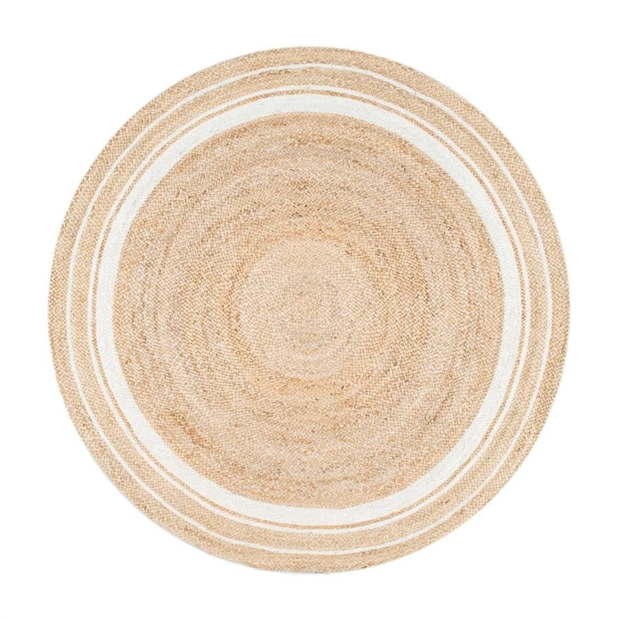 nuLOOM Rikki Natural/Bleached Round Indoor Area Rug (Common: 6 x 6; Actual: W x L x 6-ft dia)