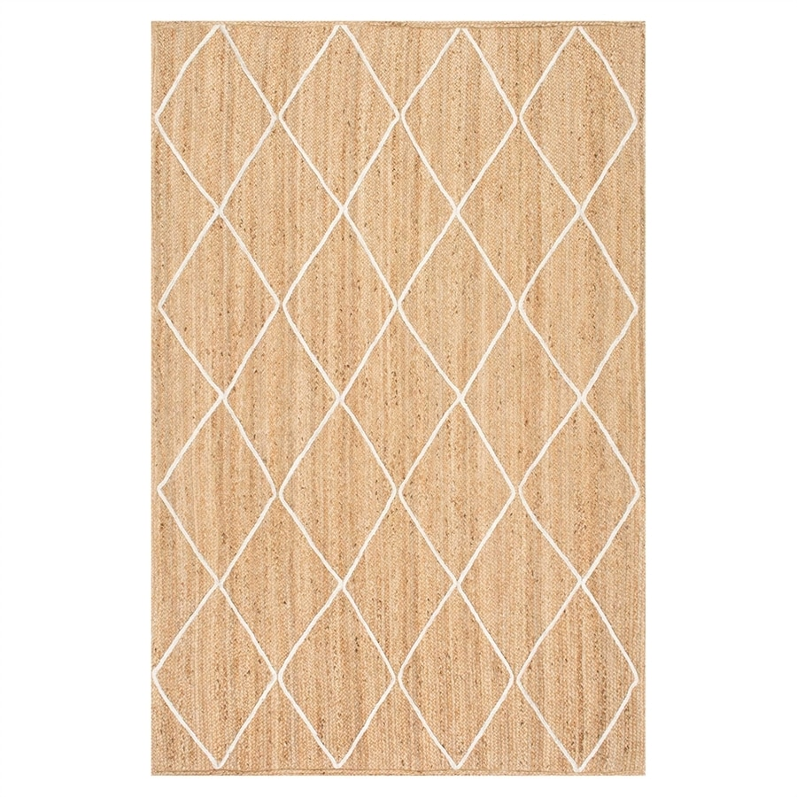 nuLOOM Caleb Natural/Bleached Indoor Handcrafted Area Rug (Common: 4 x 6; Actual: 4-ft W x 6-ft L)