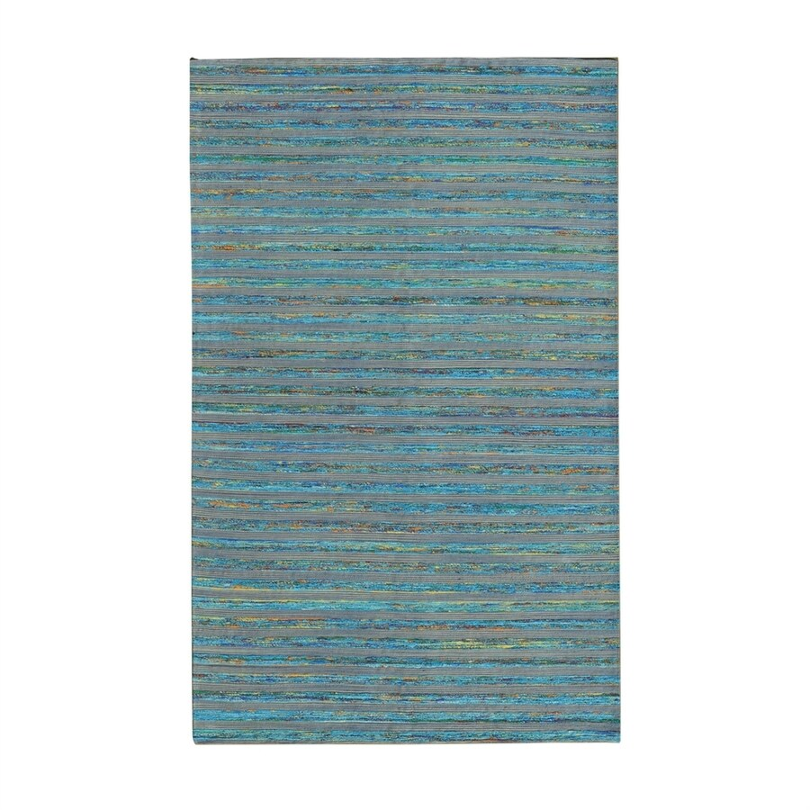 NobleHouse Lazzarro Turquoise Indoor Area Rug (Common: 5 x 7; Actual: 5-ft W x 7.5-ft L)