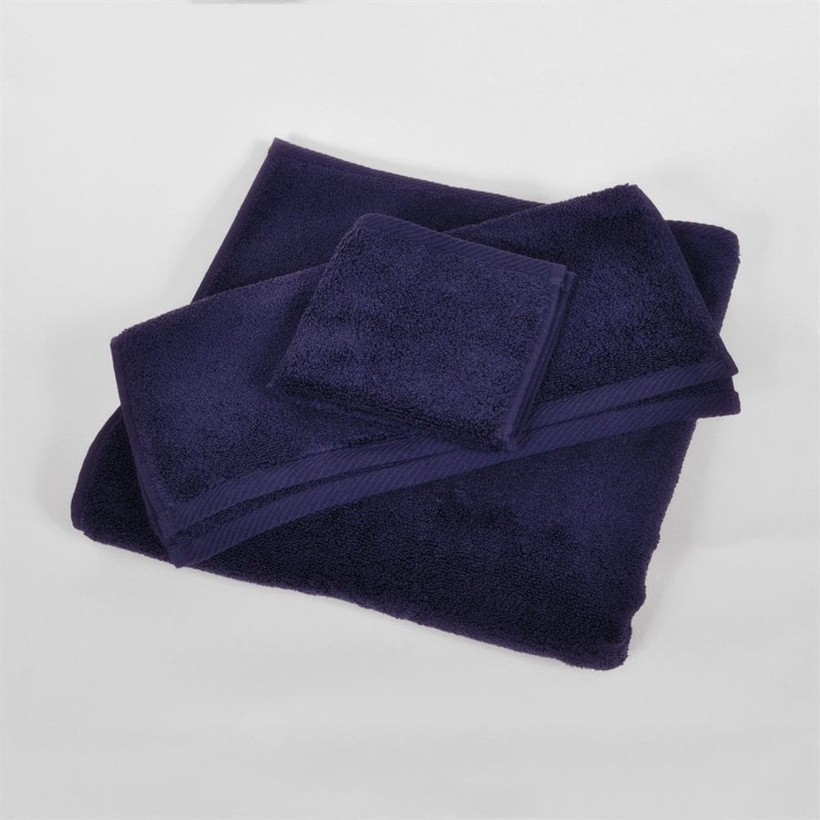 Caro Home 60-in x 30-in Navy Cotton Bath Towel