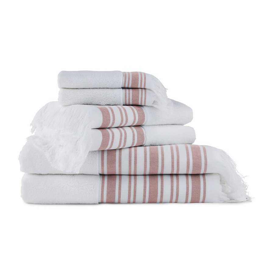 Luxor Linens 6-Pack Berry Cotton Bathroom Towel Set