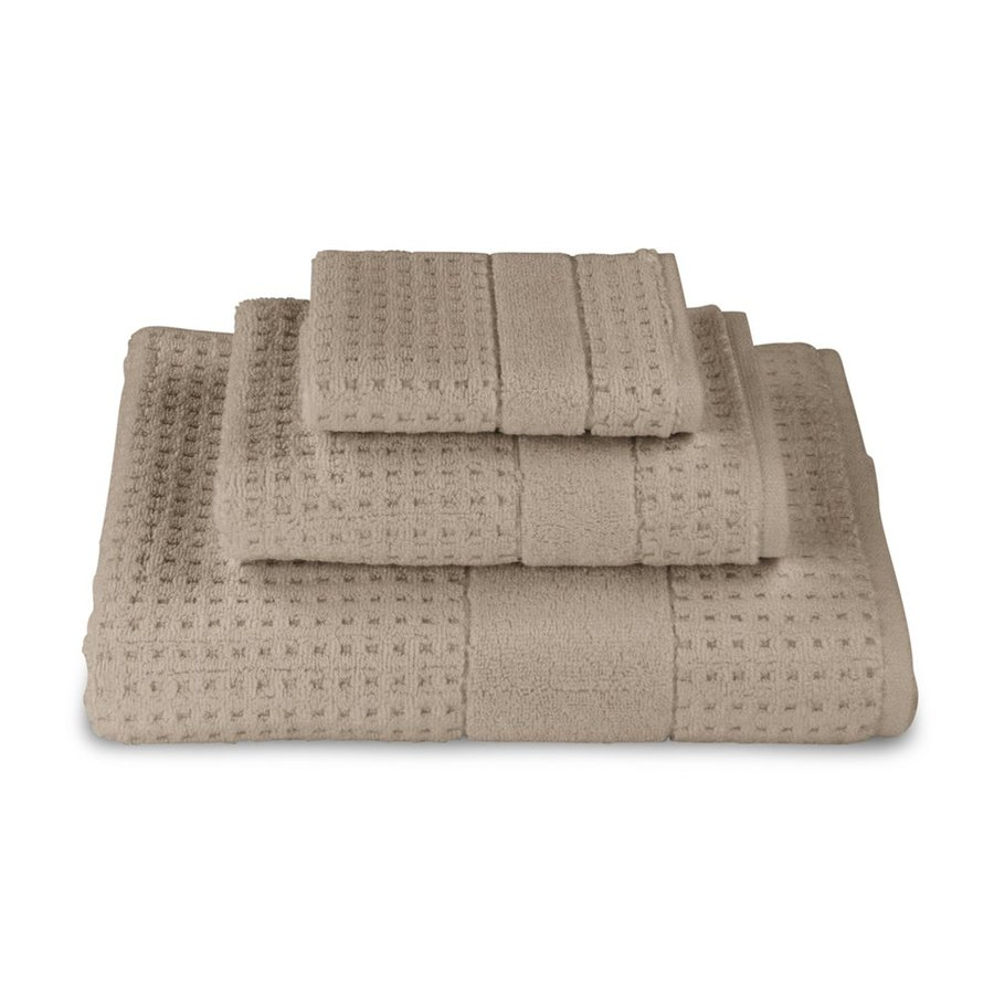 Luxor Linens 3-Pack Almond Cotton Bathroom Towel Set