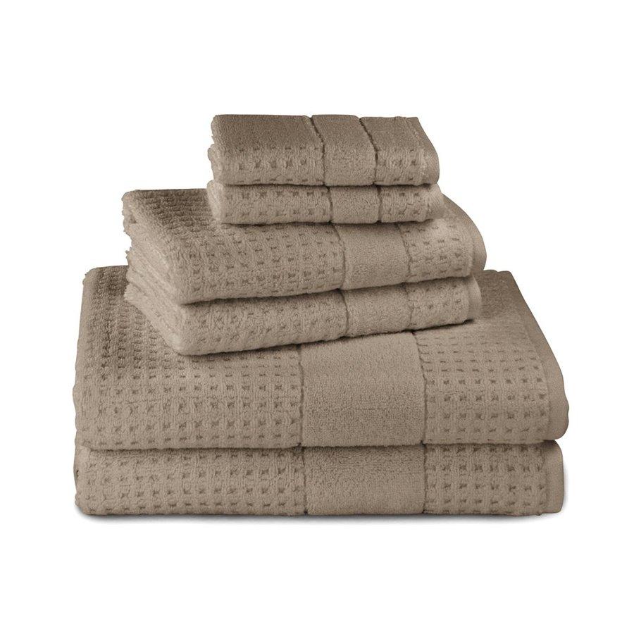 Luxor Linens 6-Pack Almond Cotton Bathroom Towel Set