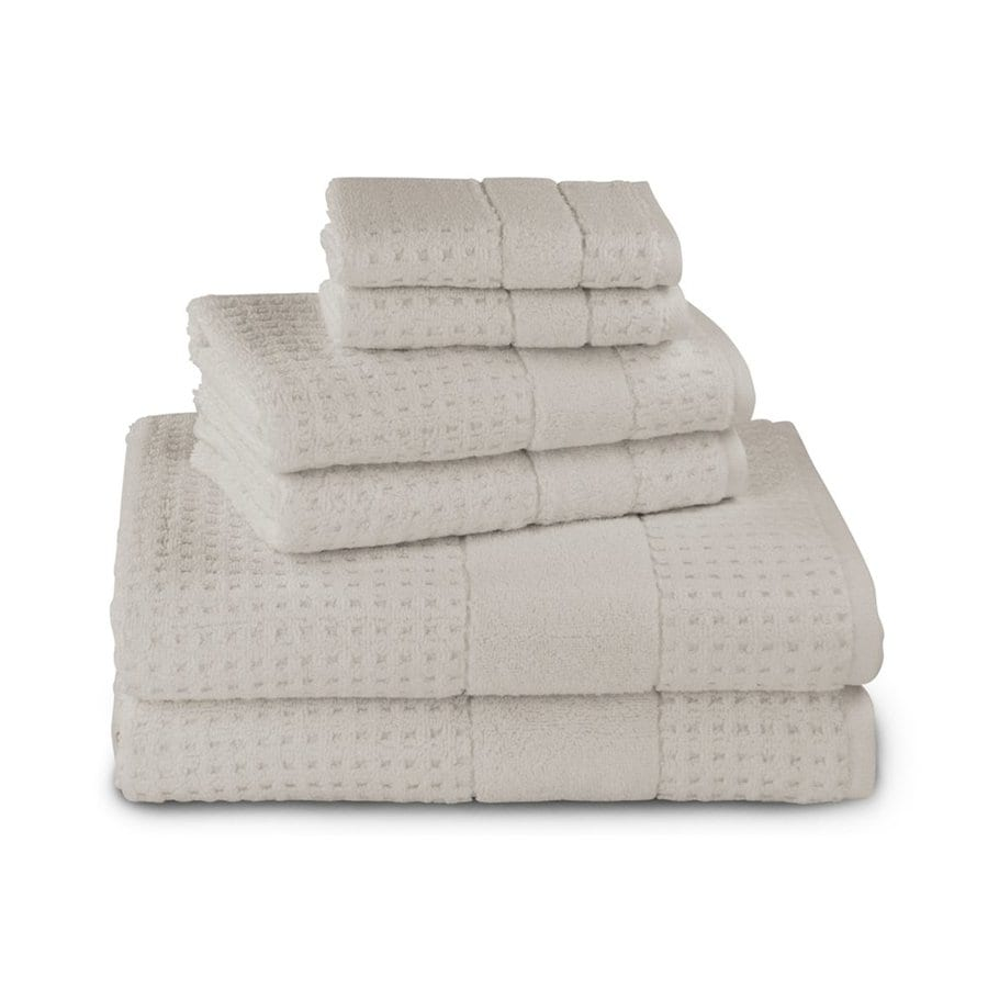 Luxor Linens 6-Pack Latte Cotton Bathroom Towel Set