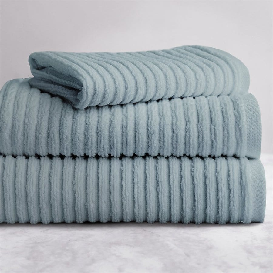 Luxor Linens 3 Pack Spa Blue Cotton Bathroom Towel Set