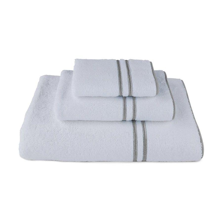 Luxor Linens 3-Pack Charcoal Cotton Bathroom Towel Set