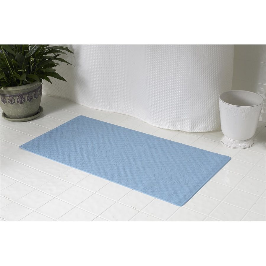 Carnation Home Fashions 28-in x 16-in Slate Rubber Bath Mat