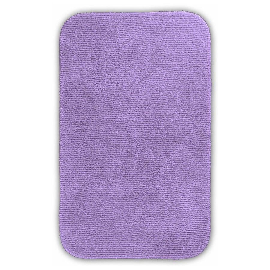 Garland Rug Glamor 40-in x 24-in Purple Nylon Bath Rug