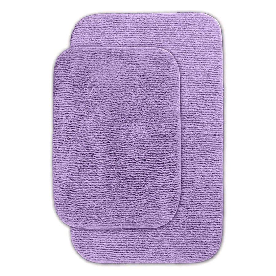 Garland Rug Glamor Set of 2 Purple Nylon Bath Rug