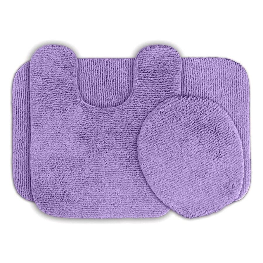 Garland Rug Glamor Set of 3 Purple Nylon Bath Rug