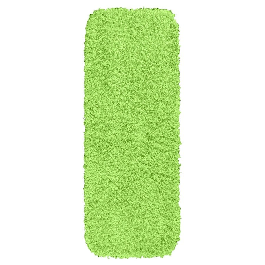 Lime Green Rugs For Kitchen: Garland Rug Jazz 60-in X 22-in Lime Green Nylon Bath Rug