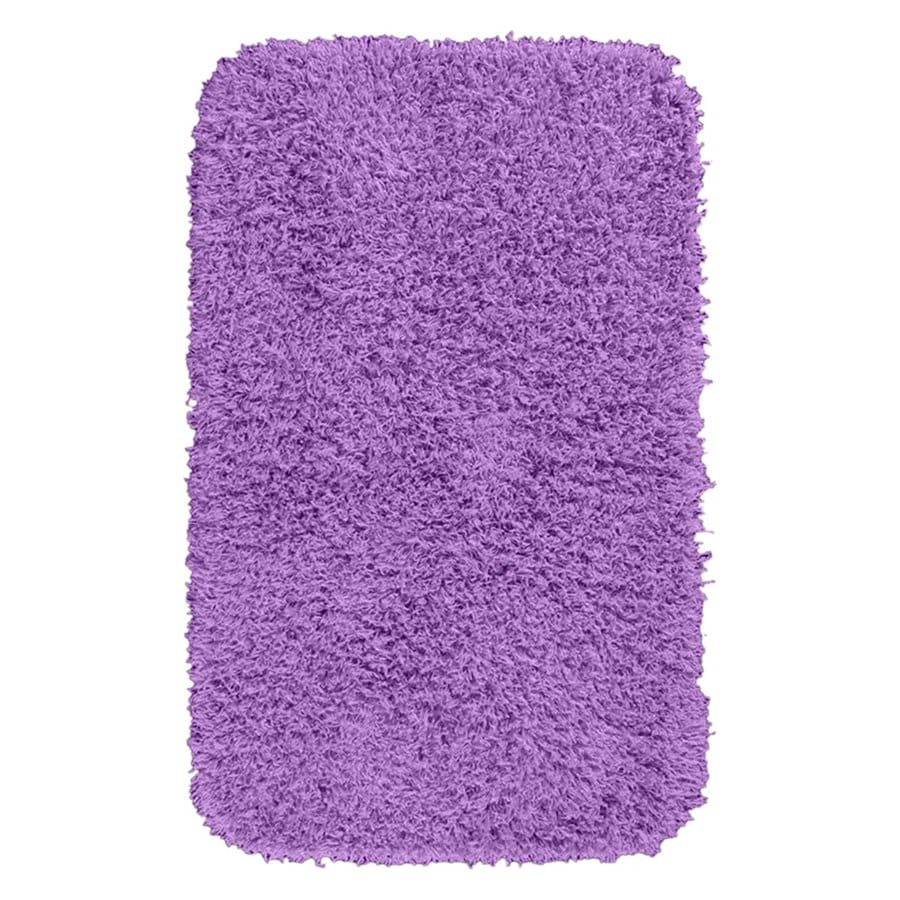 Garland Rug Jazz 40-in x 24-in Purple Nylon Bath Rug