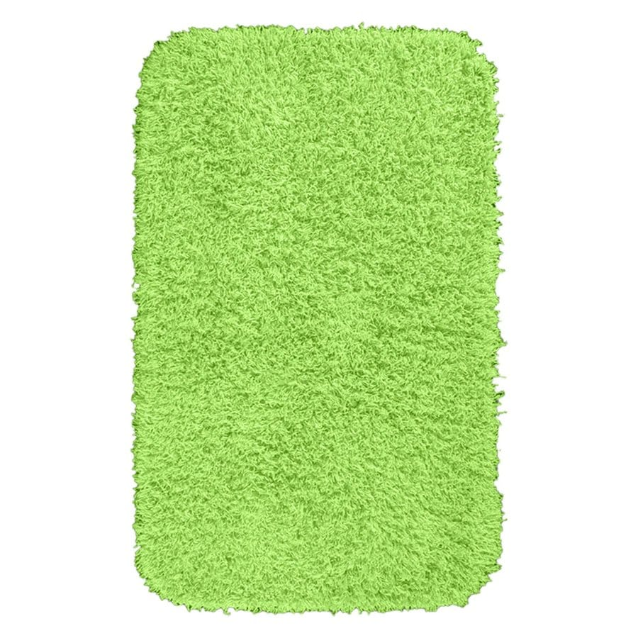 Garland Rug Jazz 40 In X 24 In Lime Green Nylon Bath Rug