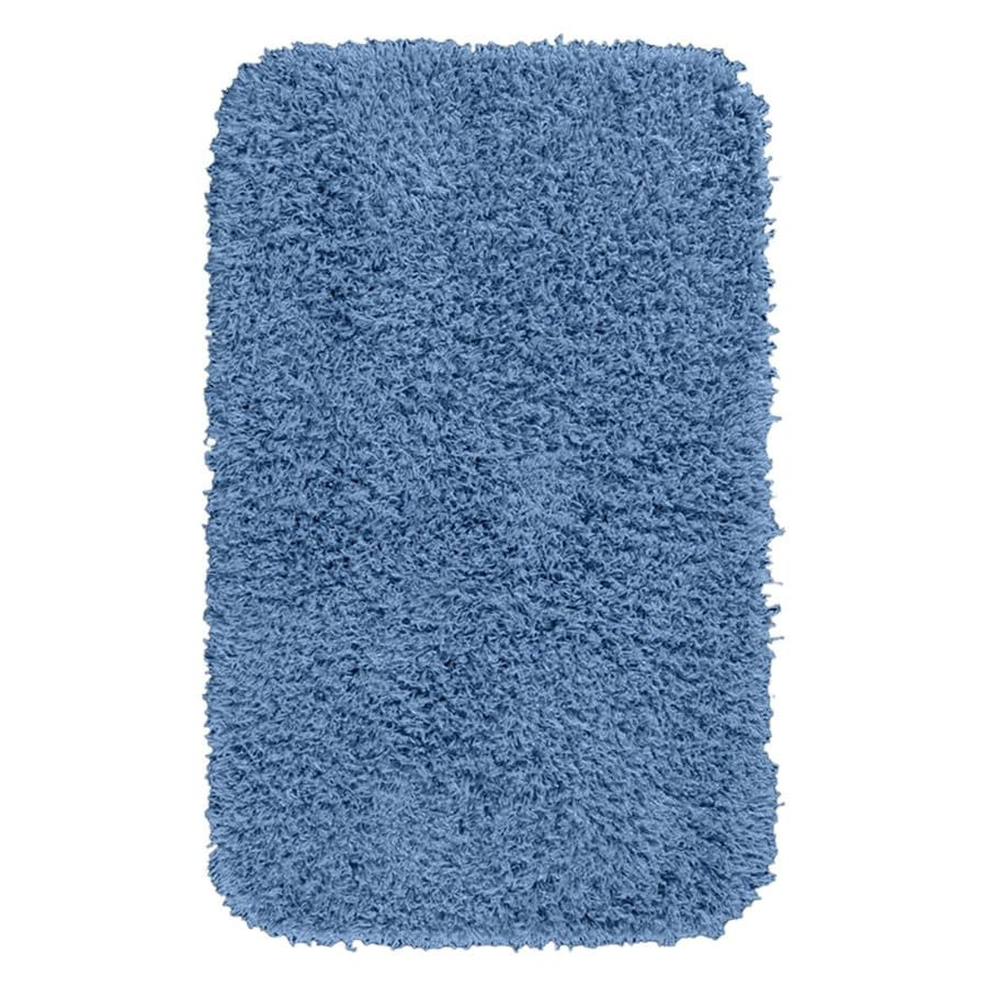 Garland Rug Jazz 40-in x 24-in Basin Blue Nylon Bath Rug
