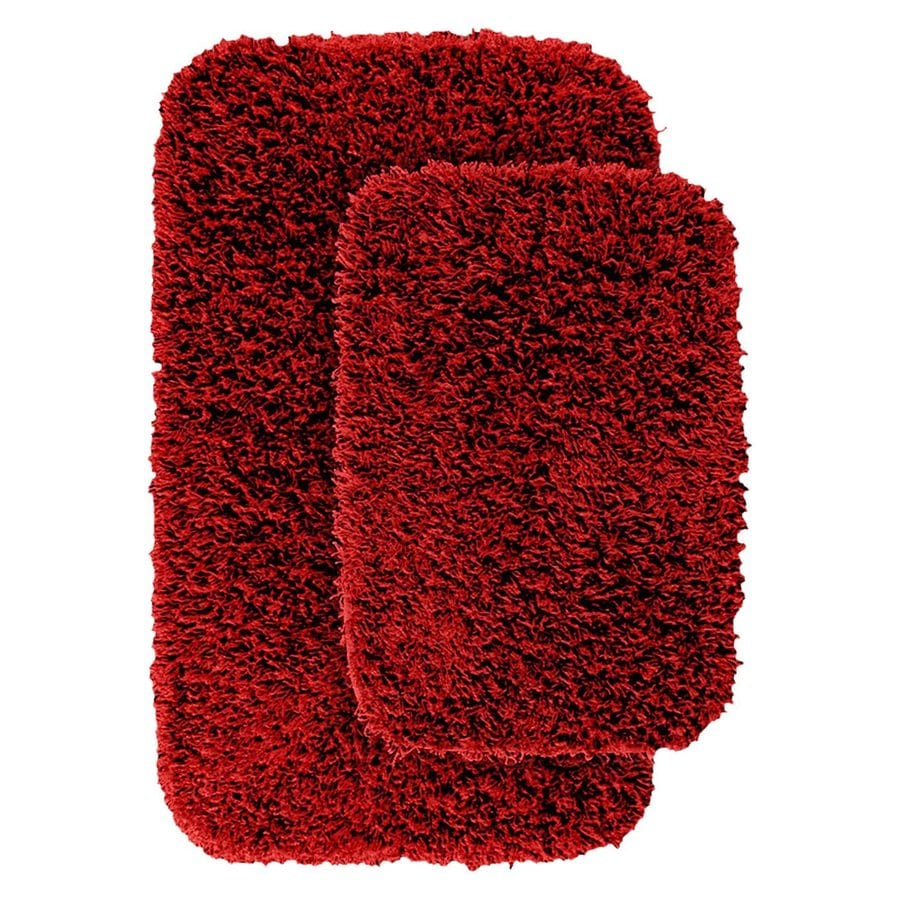 garland rug jazz set of 2 chili pepper red nylon bath rug at. Black Bedroom Furniture Sets. Home Design Ideas