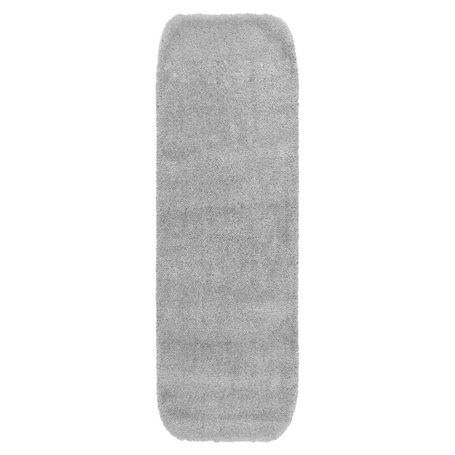 Garland Rug Traditional 60-in x 22-in Platinum Gray Nylon Bath Rug