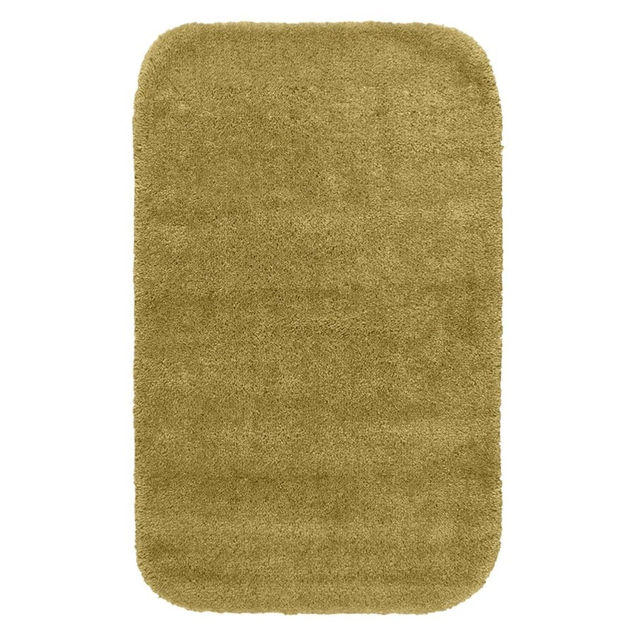 Garland Rug Traditional 40-in x 24-in Linen Nylon Bath Rug