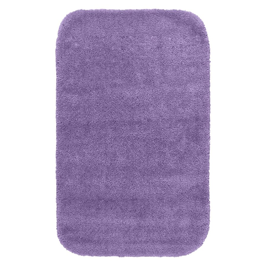 Garland Rug Traditional 40-in x 24-in Purple Nylon Bath Rug