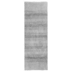 Garland Rug Essence 60-in x 22-in Platinum Gray Nylon Bath Rug